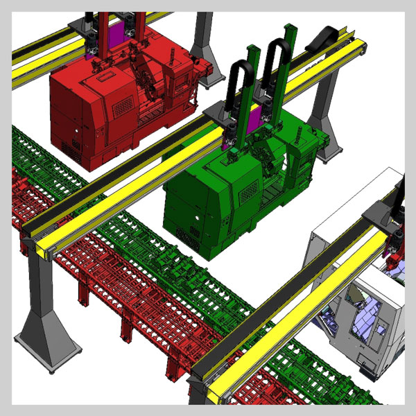 Automatic manufacturing lines